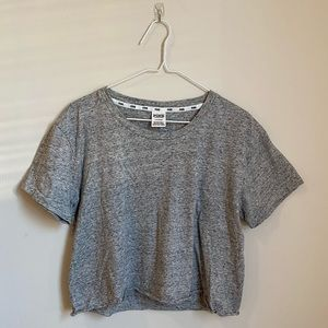 PINK gray cropped tee